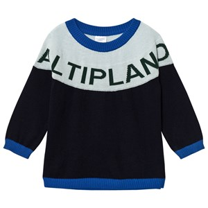 Image of Tinycottons Altiplano Sweater Oversized Dark Navy/Light Blue 12-18 mdr (2743692133)