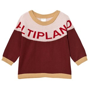 Image of Tinycottons Altiplano Sweater Oversized Bordeaux/Pale Pink 12-18 mdr (2743692121)