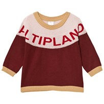 Tinycottons Altiplano Sweater Oversized Bordeaux/Pale Pink Bordeaux / Pale Pink