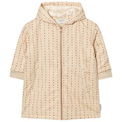Tinycottons Alphabet Soup Oversized Jacket Beige / Red
