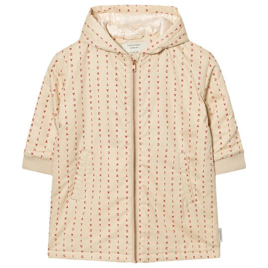 Tinycottons Alphabet Soup Oversized Jacket Beige / Red Beige / Red
