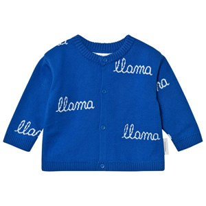 Image of Tinycottons Llama Knit Cardigan Blue/Light Blue 3-6 mdr (2743751277)