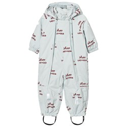 Tinycottons Shoo Worries Snowsuit Light Blue/Bordeaux
