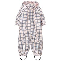 Tinycottons Grid Snow Onepiece Pale Pink / Blue Pale Pink / Blue