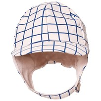 Tinycottons Grid Snow Hat Pale Pink/Blue Pale Pink / Blue