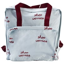 Tinycottons Shoo Worries Backpack Light Blue/Bordeaux Light Blue / Bordeaux
