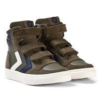 Hummel Stadil Leather Jr Olive Night OLIVE NIGHT