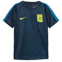 NIKE Navy Dry Neymar Squad Short Sleeve Top ARMORY NAVY/LT BLUE LACQUER/VOLT