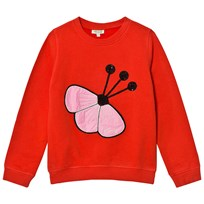 Kenzo Red Sequin Flower Embroidered Sweatshirt 03