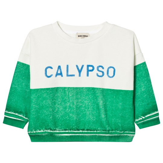 Bobo Choses Calypso Boat Sweatshirt Green