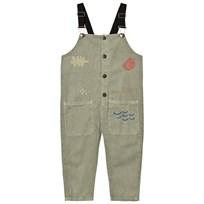 Bobo Choses Sea Junk Overalls Green