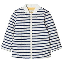 Bobo Choses Reversible Padded Jacket Navy Stripes Blue