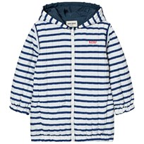 Bobo Choses Reversible Padded Anorak Navy Stripes Blue