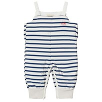 Bobo Choses Padded Overall Navy Stripes Blue