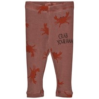Bobo Choses Baby Leggings Crab Your Hands BROWN