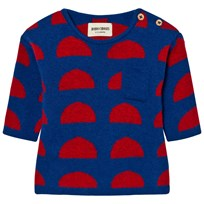 Bobo Choses Crests Baby Knitted Sweater Blue