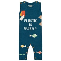 Bobo Choses Plastic is Over? Intarsia Romper Blue