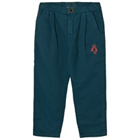 Bobo Choses Baggy Trousers Loup Embroidery Blue