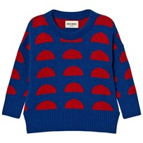Bobo Choses Knitted Jumper Crests Blue