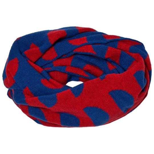 Bobo Choses Knitted Scarf Crests Blue