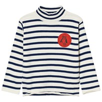 Bobo Choses Turtle Neck Jumper Loup de Mer White