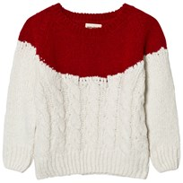 Bobo Choses Plain Yoke Knitted Sweater Beige