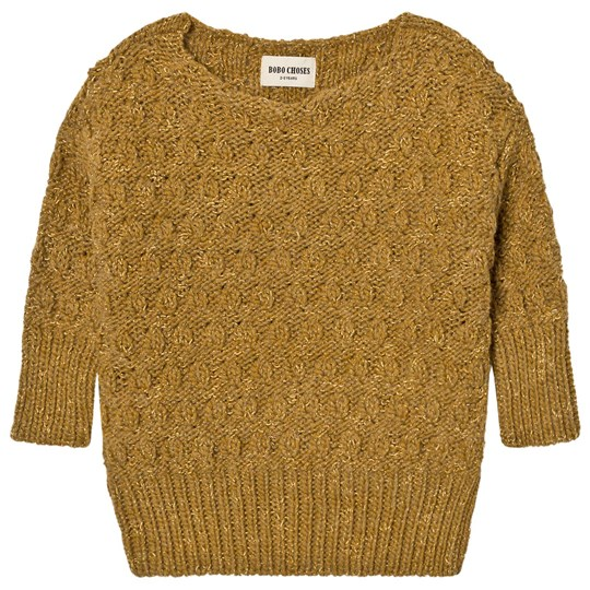 Bobo Choses Octopus Knitted Jumper Yellow