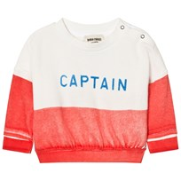 Bobo Choses Captain Baby Boat Sweatshirt Red
