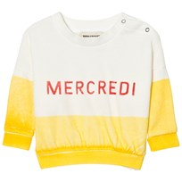 Bobo Choses Mercredi Baby Boat Sweatshirt Yellow