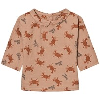 Bobo Choses Baby Button Blouse Crab Your Hands Pink