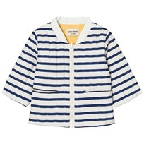 Bobo Choses Baby Reversible Padded Jacket Navy Stripes Blue