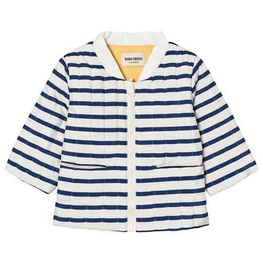 11d6a9f45 Bobo Choses - Baby Reversible Padded Jacket Navy Stripes - Babyshop.com