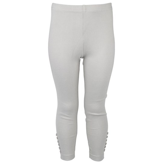 Wheat Rib Leggings Silvergrey Sort