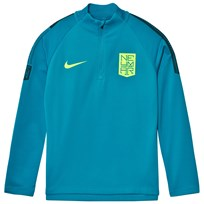 NIKE Blue Dry Neymar Squad Long Sleeve  Drill Top LT BLUE LACQUER/ARMORY NAVY/VOLT