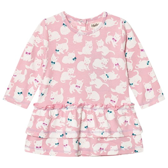 Hatley Pink Kittens Layered Dress Pink