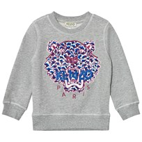 Kenzo Grey Embroidered Tiger Sweatshirt 20