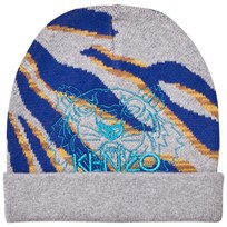 Kenzo Grey Multi Tiger and Animal Print Beanie 22