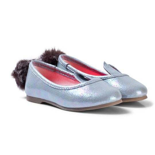 Billieblush Silver Metallic Bunny Pumps 10