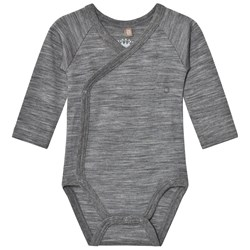 Hust&Claire Marled Wrap Body Wool Grey
