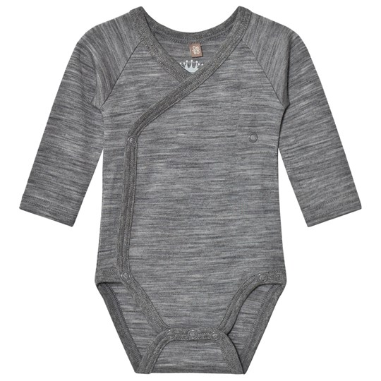 Hust&Claire Marled Wrap Body Wool Grey WOOL GREY