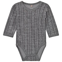 Hust&Claire Cable Baby Body Wool Grey