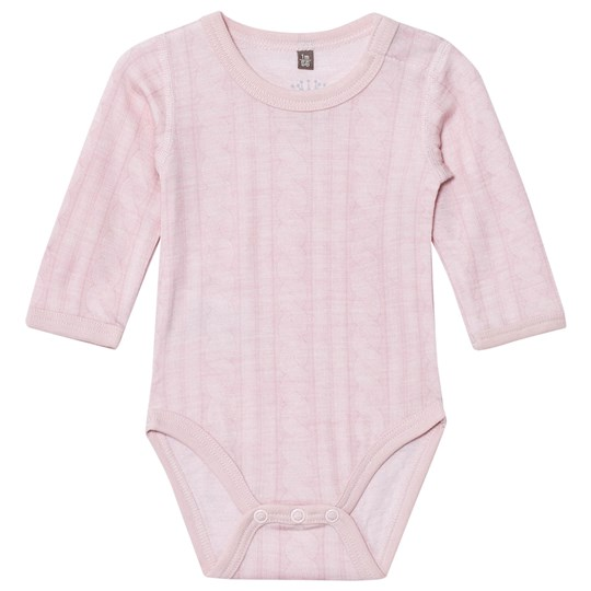 Hust&Claire Cable Baby Body Rose Rose Melange