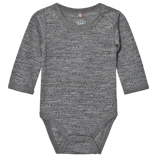 Hust&Claire Spotted Baby Body Wool Grey WOOL GREY