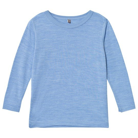 Hust&Claire Silk Blend T-Shirt in Blue Dawn Blue Dawn Melange