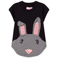 BANG BANG Copenhagen Black Nova Rabbit Check Applique Sweat Dress Black
