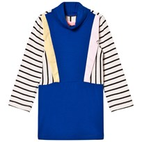 BANG BANG Copenhagen Blue Stripe Collared Paris Knit Dress Blue