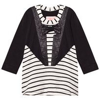 BANG BANG Copenhagen Black/White Tuxedo Nelly Stripe Dress Black