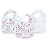 Aden + Anais White Bambi Snap Bibs (3 Pack) White Multi
