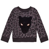 BANG BANG Copenhagen Black Leoprint Applique Sweatshirt Black
