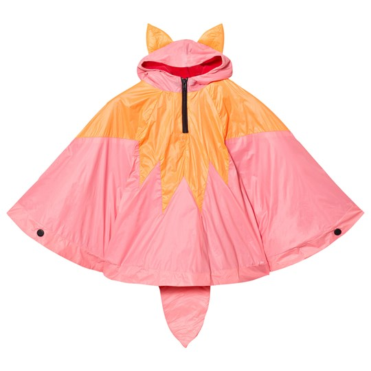 BANGBANG Copenhagen Orange/Pink Fox Poncho Orange